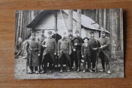 Carte Photo  Groupe De  Garde Voie    WWI Marqué  Tunel   Interessant Texte   Guerre 1914 1918 - 1914-18