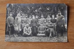 Carte Photo  Groupe De  Garde Voie   Le Ravitaillement  Cantiniiere  Lieu Et Soldat Identifiés - 1914-18