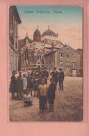 OLD POSTCARD CROATIA - RIJEKA - FIUME - SYNAGOGUE - TEMPIO ISRAELITICO - Kroatien