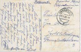 Osnabrück 1939 Feldpost Nationaltheater - Dienstpost