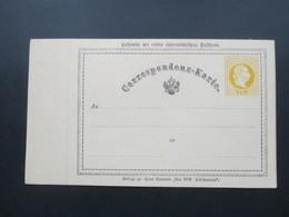 Österreich Faksimile Der Ersten österreichischen Postkarte. Beilage Zu Hans Kraemer Das XIX. Jahrhundert. Neudruck! - 1850-1918 Imperium