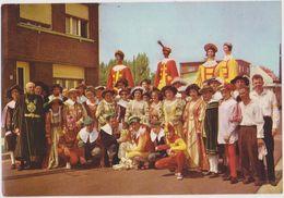 CHROMO FOLKLORE EN BELGIQUE ET LUXEMBOURG VEGE ALBUM 3 N° 694 VILVORDE DE GOUD BLOEM GEANTS  13 X 9 CM - Chromos