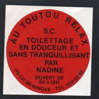 AU TOUTOU RELAX CHEMIN DE NINOVE - Autocollant  - Ref: 1387 - Stickers