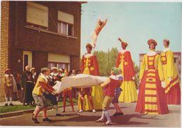 CHROMO FOLKLORE EN BELGIQUE ET LUXEMBOURG VEGE ALBUM 3 N° 695 VILVORDE HOUP SASSA GEANTS  13 X 9 CM - Chromos