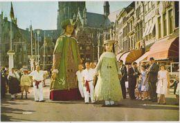 CHROMO FOLKLORE EN BELGIQUE ET LUXEMBOURG VEGE ALBUM 3 N° 707 MALINES CORSO FLEURI GEANTS  13 X 9 CM - Chromos