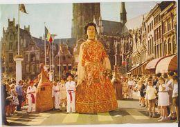 CHROMO FOLKLORE EN BELGIQUE ET LUXEMBOURG VEGE ALBUM 3 N° 708 MALINES CORSO FLEURI GEANTS  13 X 9 CM - Chromos