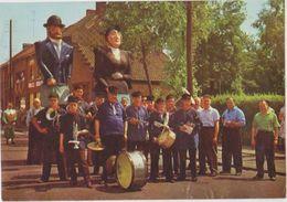 CHROMO FOLKLORE EN BELGIQUE ET LUXEMBOURG VEGE ALBUM 3 N° 726 PUURS LES  GEANTS  13 X 9 CM - Chromos