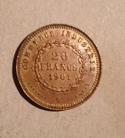 TOKEN JETON GETTONE FRANCIA COMMERCE INDUSTRIE 20 FRANCS 1901 PLASTICA - Monetari / Di Necessità
