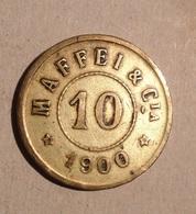 TOKEN JETON GETTONE SPAGNA MUELLES SAN JUAN 10 CENT 1900 - Monetari/ Di Necessità