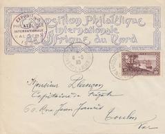 Enveloppe  ALGERIE   Exposition  Philatélique  De  L ' AFRIQUE   DU  NORD   1930 - Algérie (1924-1962)