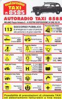 Milano- Autoradio Taxi 8585 - - Calendari