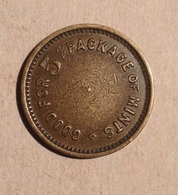 TOKEN JETON GETTONE RENO UNITO GOOD FOR PACKAGE OF MINTS - Monetary/Of Necessity