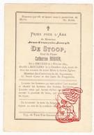 DP Jean Fr. De Stoop DeStoop ° Brugge 1824 † Roeselare 1898 X Cath. Hobson ° London UK † 1882 / Litho Vd Vyvere - Andachtsbilder