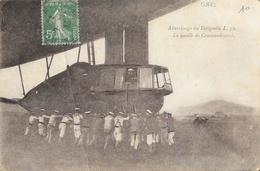 Atterrissage Du Dirigeable L. 72, La Nacelle De Commandement - Carte Non écrite - Dirigeables