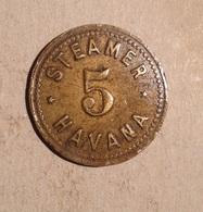 TOKEN JETON GETTONE STEAMER HAVANA - Monetari / Di Necessità