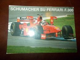 B680  Schumacher Su Ferrari Non Viaggiata Pieghine Angoli - Grand Prix / F1