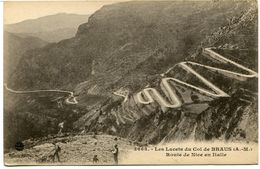 CPA - Carte Postale - France - Les Lacets Du Col De Braus - Route De Nice En Italie  (CPV973) - Francia