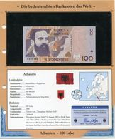 ALBANIE BILLET NEUF DE 100 LEKE DE 1996 AVEC CERTIFICAT - Albanie