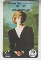 ISRAEL TELEKID 1997 PRINCESS LADY DIANA 2 MINT PHONE CARDS - Israel