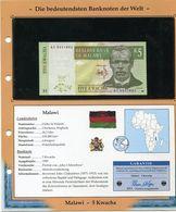 MALAWI BILLET NEUF DE 5 KWACHA DE 1997 AVEC CERTIFICAT - Malawi