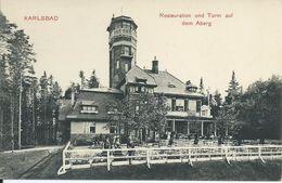 1858. Karlsbad * Restauration Und Turm  Auf Dem Aberg - República Checa