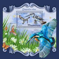 MOZAMBIQUE 2018 - Kingfishers, Butterflies S/S. Official Issue - Schmetterlinge