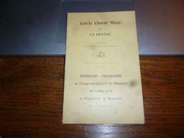 AA4-2  Lot De 2 Documents Cercle Choral La Hestre 1910 Et 1912 - Organisations
