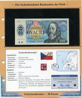 TCHECOSLOVAQUIE BILLET NEUF DE 20 KORUN DE 1988 AVEC CERTIFICAT - Tchécoslovaquie