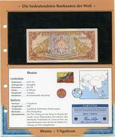 BHOUTAN BILLET NEUF DE 5 NGULTRUM DE 1985 AVEC CERTIFICAT - Bhoutan