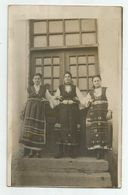 Bulgarian Women Pose For Photo With Folk Costume With Bobs 106sz-49 - Anonymous Persons