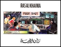 Ras Al Khaima - 571 - BLOC Non Dentelé (imperforate) Espace (space) Apollo 12 Moon Shot - Space