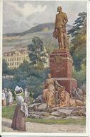 1880. Karlsbad  - Kaiser Franz Josef Denkmal - República Checa