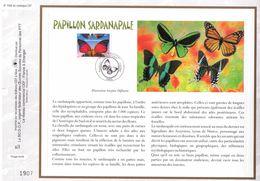 FEUILLET CEF TIRAGE LIMITE, PAPILLON SARDANAPALE, 2000 - Schmetterlinge