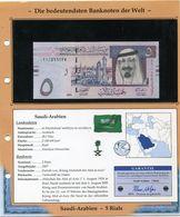 ARABIE SAOUDITE BILLET NEUF DE 5 RIALS DE 2007 AVEC CERTIFICAT - Arabie Saoudite