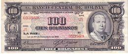 Bolivia P.147 100 Bolivianos 1945 Unc - Bolivia