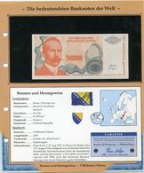 BOSNIE-HERZEGOVINE BILLET NEUF DE 5 MILLIONS DE DINAR DE 1993 AVEC CERTIFICAT - Bosnia Erzegovina