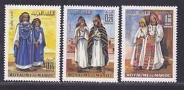 MAROC N°  582 & 583, AERIENS N° 116 ** MNH Neufs Sans Charnière, TB (D6012) Costumes - Maroc (1956-...)