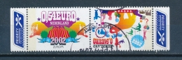 Nederland/Netherlands/Pays Bas/Niederlande 2002 Mi: 2011/2012 Nvph: 2099/2100 (Gebr/used/obl/o)(3452) - Periode 1980-... (Beatrix)