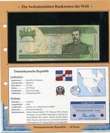 DOMINICAINE BILLET NEUF DE 10 PESOS DE 2002 AVEC CERTIFICAT - República Dominicana