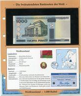 BELARUS BILLET NEUF DE 1.000 RUBEL DE 2000 AVEC CERTIFICAT - Belarus