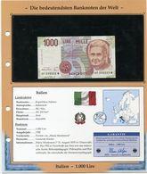 ITALIE BILLET NEUF DE 1.000 LIRE DE 1990 AVEC CERTIFICAT - [ 2] 1946-… : Républic