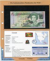 GRENADA BILLET NEUF DE 5 DOLLAR DE 2006 AVEC CERTIFICAT - Billets