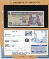 GUATEMALA BILLET NEUF DE 5 QUETZAL DE 2006 AVEC CERTIFICAT - Guatemala