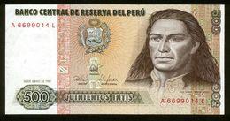 Peru 1987, 500 Intis - UNC - A6699014L - Peru