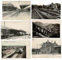 24 CP_Gare(s) Avec Train(LANGRES_BLAISY_MONTBELIARD_PIC DE GER)+Trieuses Charbon+Quai Expédit.pétrole Cave Vin.... N°23 - Cartes Postales