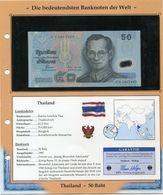 THAILANDE BILLET NEUF DE 50 BAHT DE 1997 AVEC CERTIFICAT - Tailandia