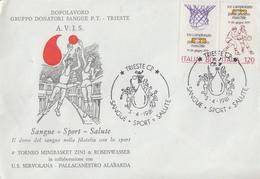 Enveloppe  ITALIE   Basket Ball   TRIESTE  1981 - Pallacanestro