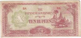 Birmania - Burma 10 Ruppes 1942 Pick 16.a Ref 189-3 - Myanmar