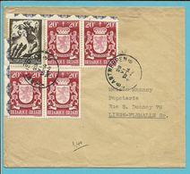 656+717 (surtaxe) Op Brief Stempel ANTWERPEN - Briefe U. Dokumente
