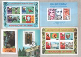 Small Selection Africa MNH CTO Mini Souvenir Sheets Of Stamps - Stamps